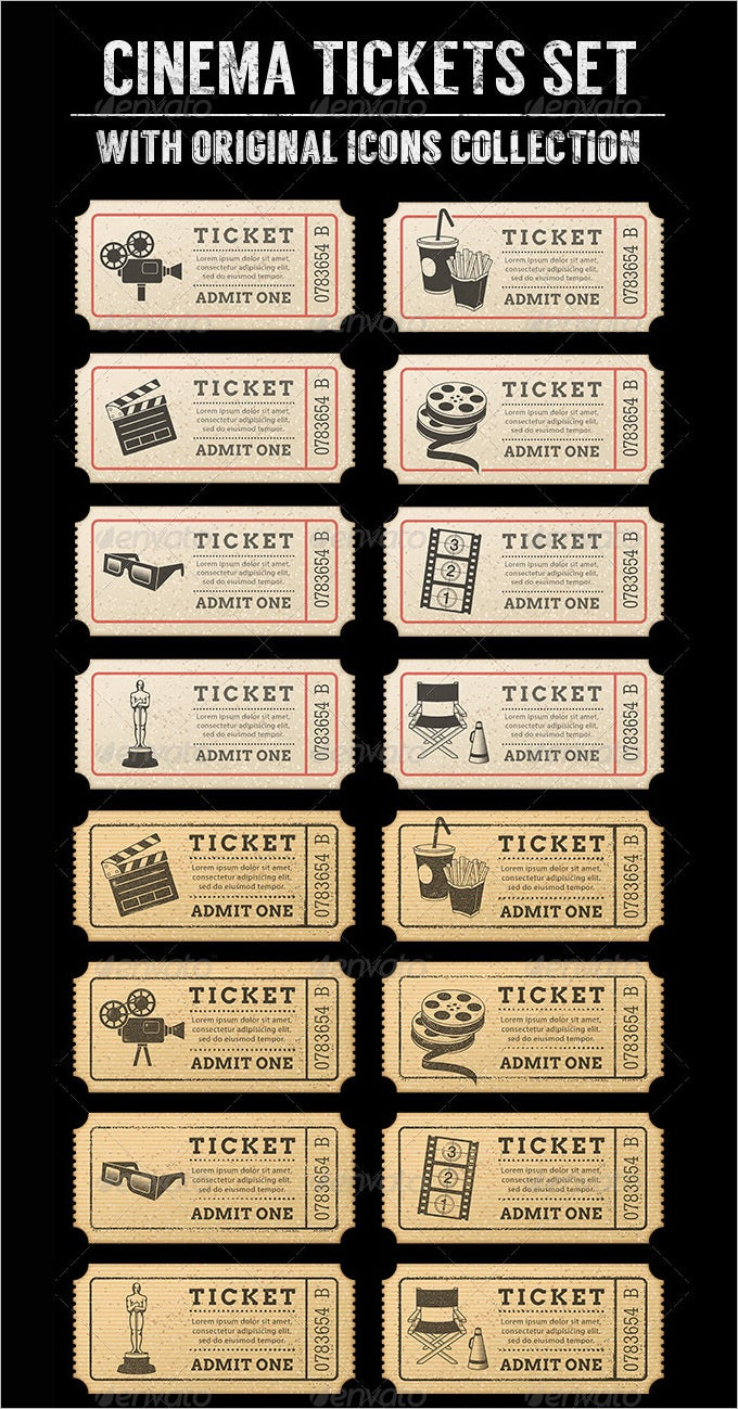 8 Movie Ticket Templates Free Word EPS PSD Formats Download – Movie Ticket Template for Word