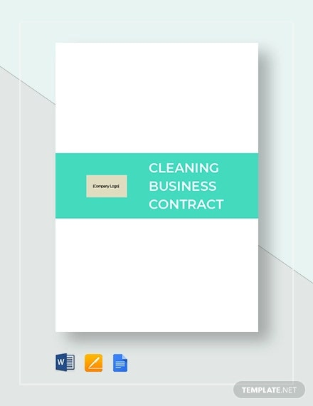 cleaning business contract