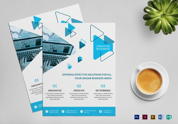 Creative Business Flyer Template In Word  Free Brochure Templates For Word To Download