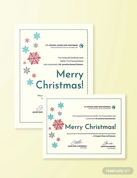 creative christmas gift certificate