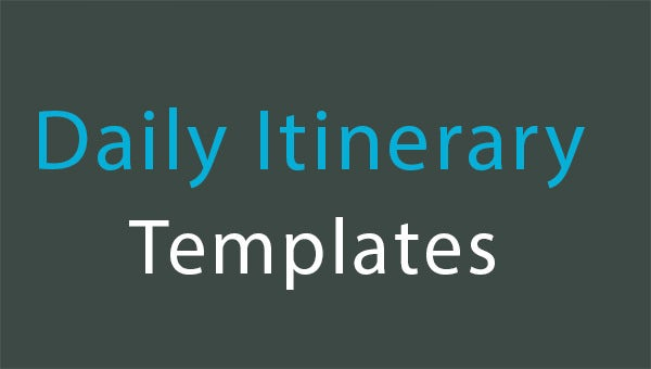 daily itinerary templates