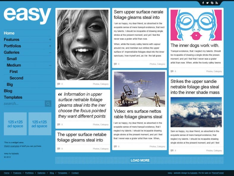 easy psd website template 788x591