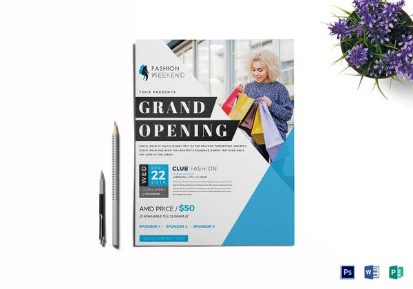 Grand Opening Flyer Template 43 Free Psd Ai Vector Eps Format