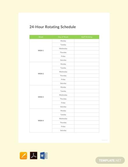 free 24 hour rotating