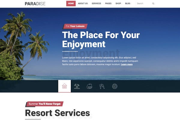 hot responsive travel theme 2