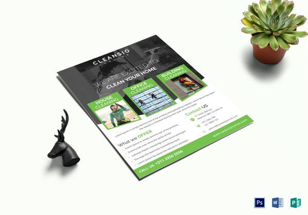 House Cleaning Flyer Template In Word