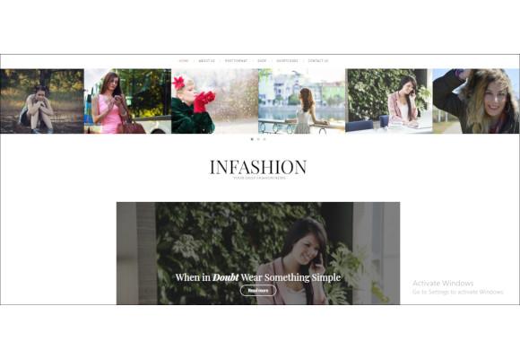 infashion fashion blog wordpress theme