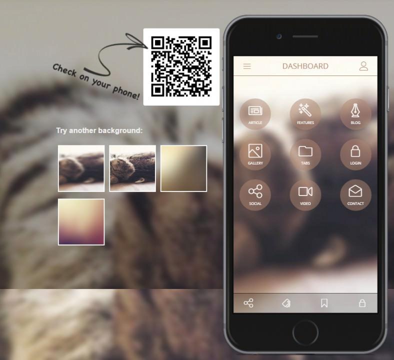 malpha2 html mobile template 788x720