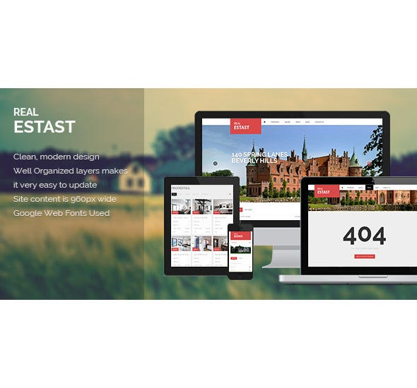 real estate psd template1