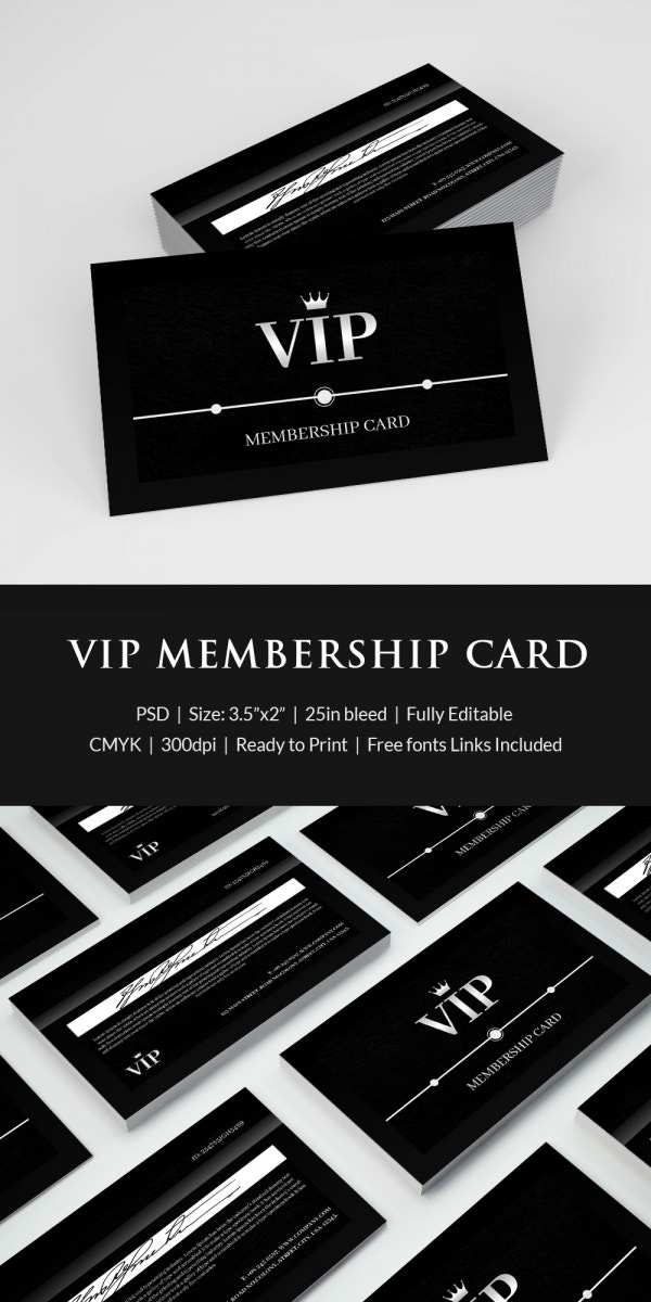 Exceptional Amazing Membership Card Template  Printable Membership Cards