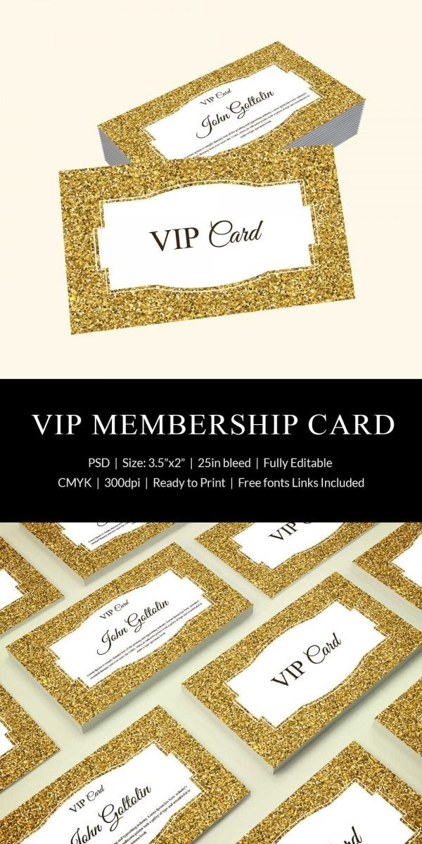 gold membership card design template