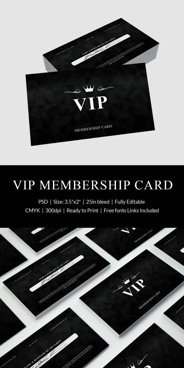 psd membership card template
