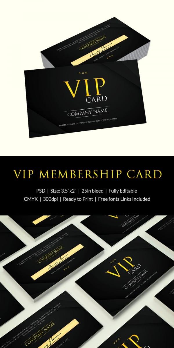 Photoshop Vip Membership Card Template