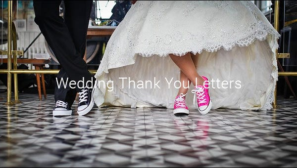 wedding thank you letterss