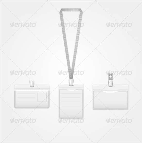 40 blank id card templates psd ai vector eps doc for Work badges template