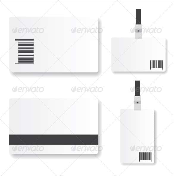 blank elegant id card design with tag min min