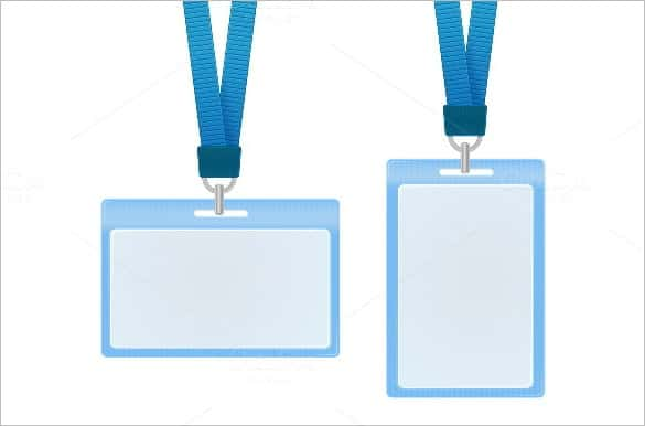 blue id card vector illustration min min
