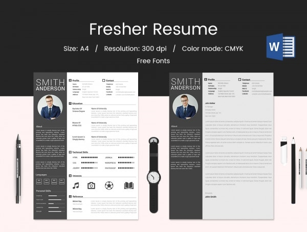 Fresher Resume Template Word Format Download
