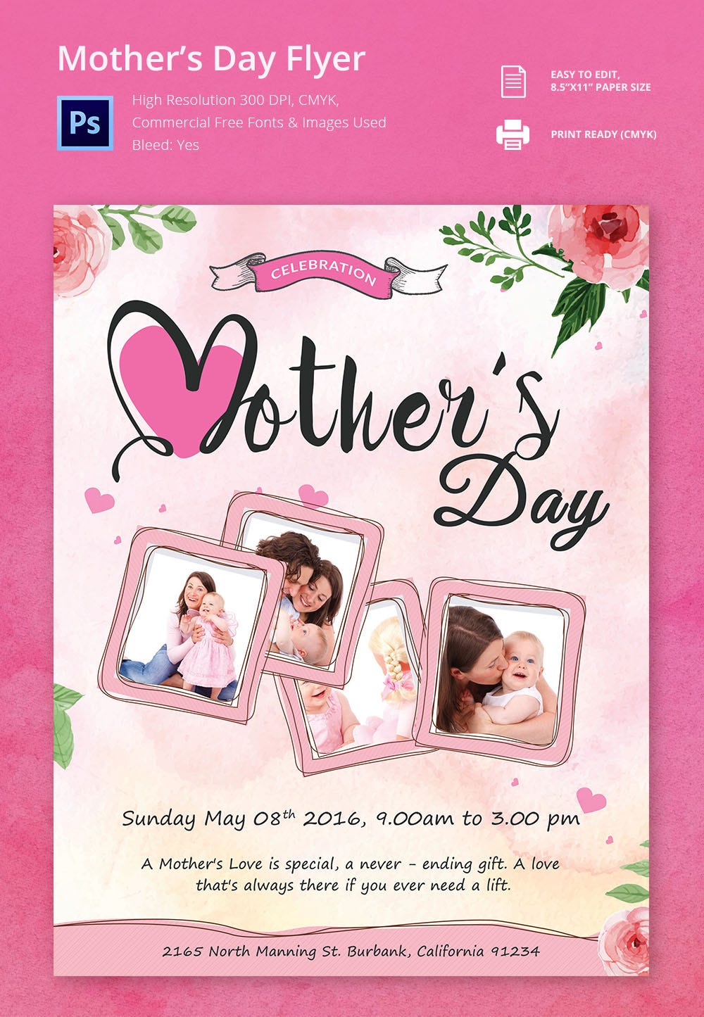 15 beautiful mother s day flyer templates designs customisable mother s day flyer template