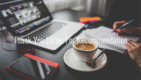 thankyouletterforrecommendation