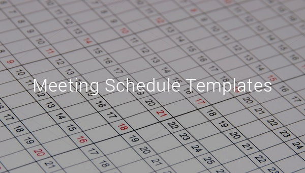 meeting schedule templates