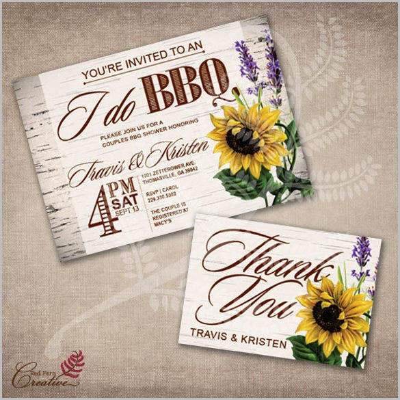 BBQ Invitation Templates Free Premium Templates Free - Couples wedding shower invitations templates free
