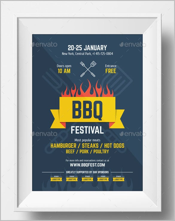 bbq festival poster template