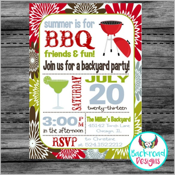 ummer bbq invitation backyard bbq invitation printable barbeque invitation