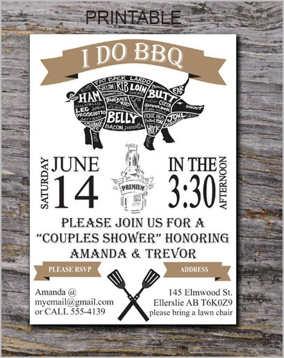 i do bbq invitation bbq couples shower bbq invitation