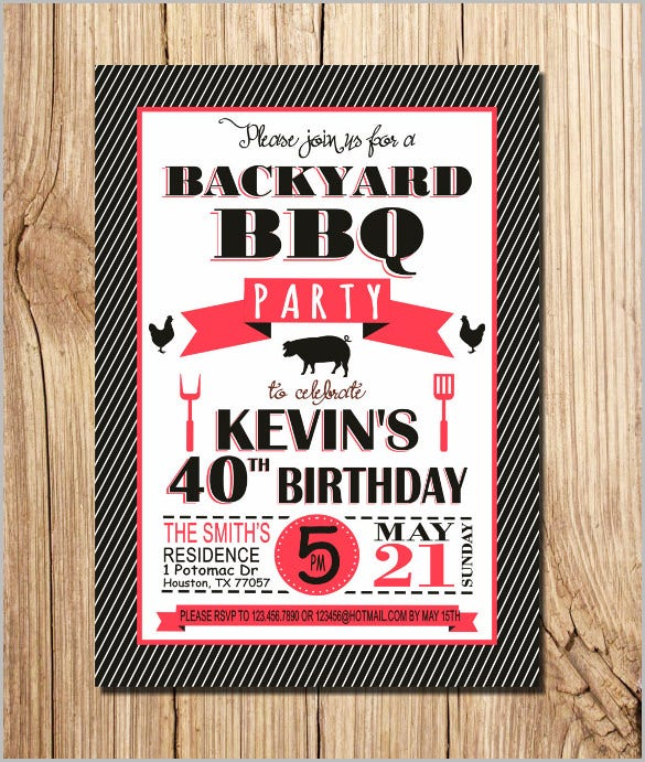 bbq birthday invitation bbq invitation picnic invitation summer bbq invitation