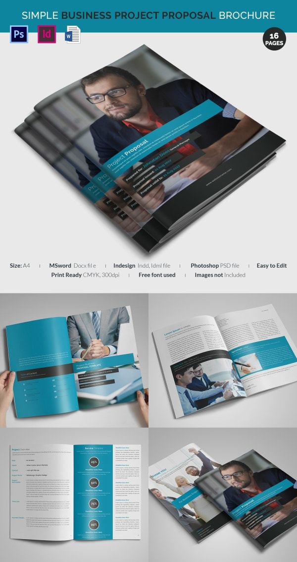 Project proposal template 56 free word ppt pdf for Project brochure template