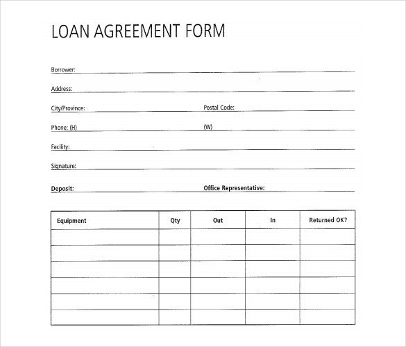 Free Loan Agreement Form  Free Loan Agreement