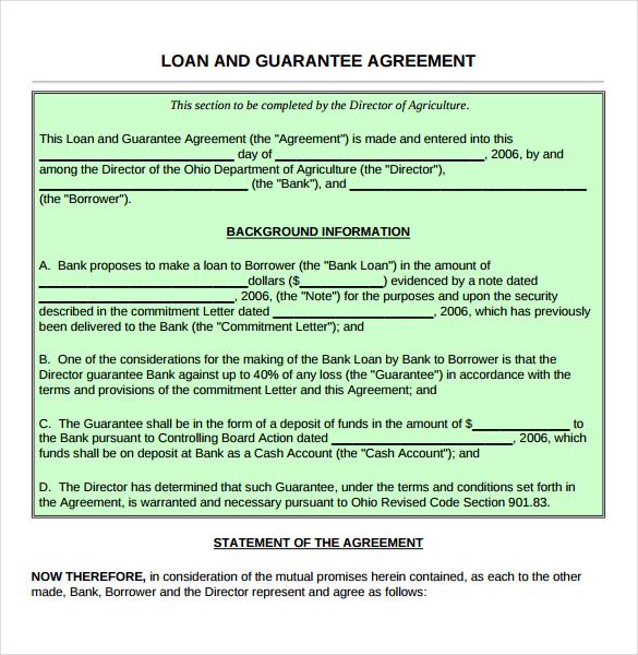 Doc468605 Cash Loan Agreement Sample 5 Loan Agreement – Cash Loan Agreement Sample