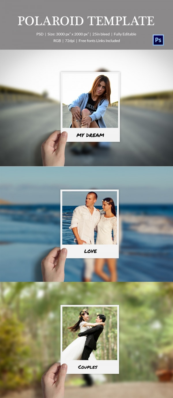 Make Effects On Polaroid Photo Template