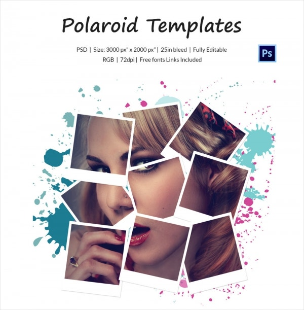 Polaroid template 31 free psd format download free premium this vector polaroid photo template comes with a delightful and colorful striped background with a wooden finish over which three polaroids are maxwellsz