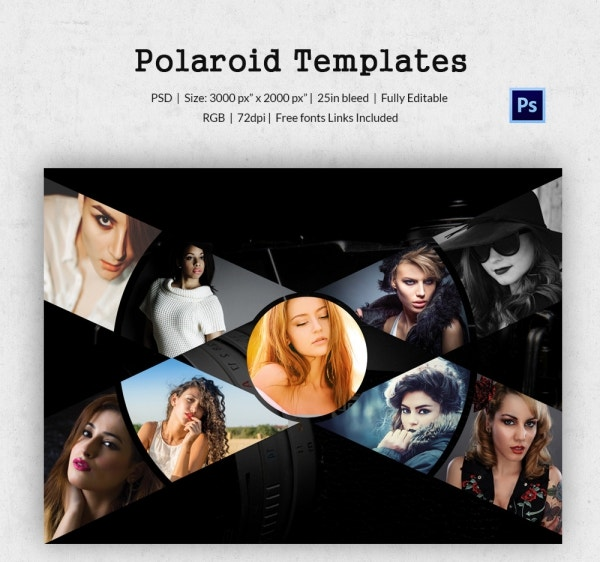 Polaroid Photographer Template