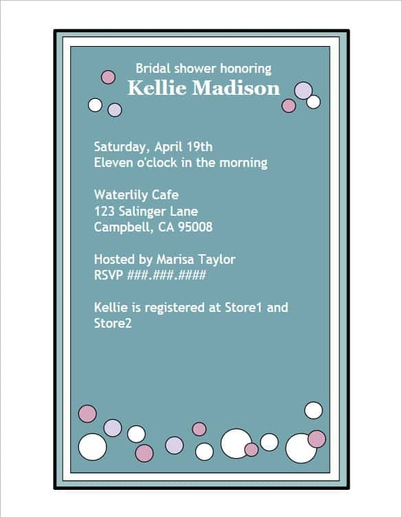 creative bridal shower invitation wording min min
