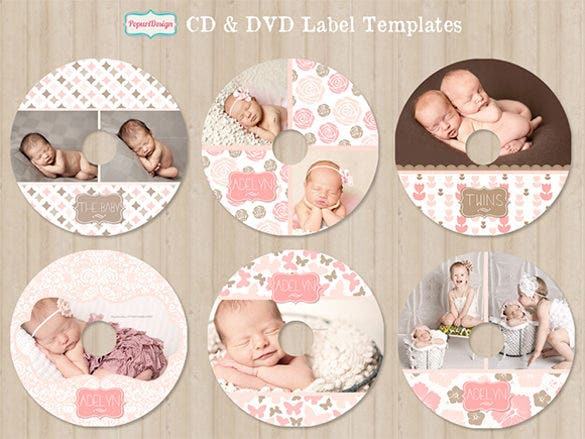 Psd Cd Dvd Label Template