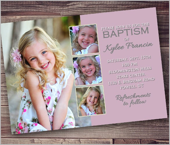 baptism invitation template – 27+ free psd, vector eps, ai, format, Birthday invitations
