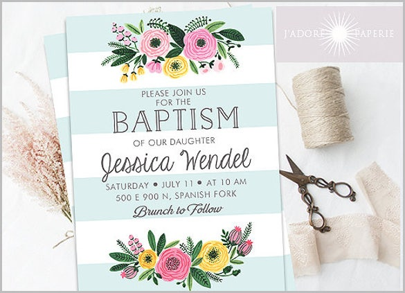 28 Baptism Invitation Design Templates PSD AI Vector EPS Free