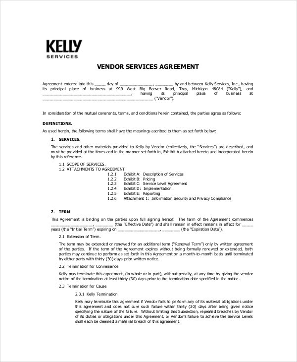 Vendor Confidentiality Agreement – 10+ Free Word, Pdf Documents