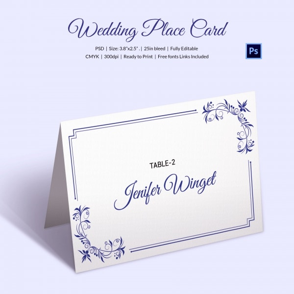 Printable wedding place cards templates free wedding for Table number design template
