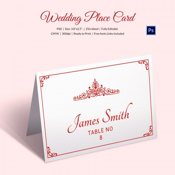 25 wedding place card templates free premium templates vintage wedding place name place card template accmission Gallery
