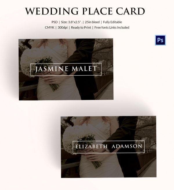 Premium Wedding Place Name Card