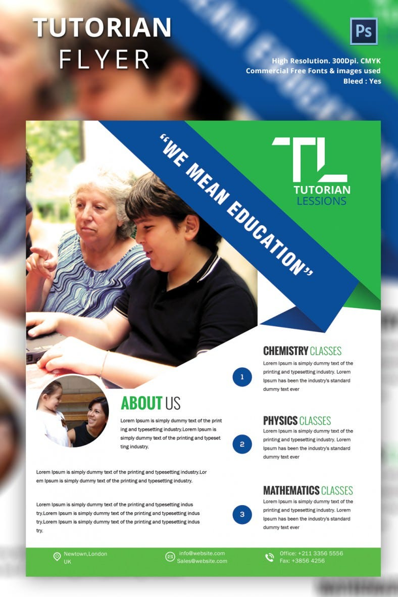 tutoring flyer psd ai vector eps format attractive tutoring flyer designs
