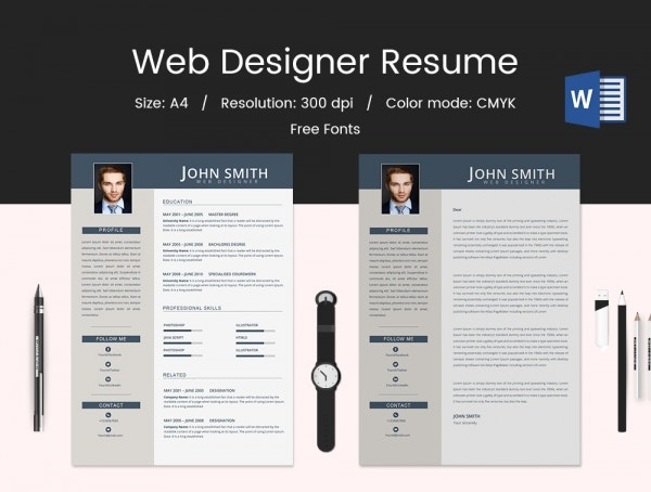 Iwork Pages Resume Templates Free Web Designer Template Download Downloads  Microsoft Word 2015