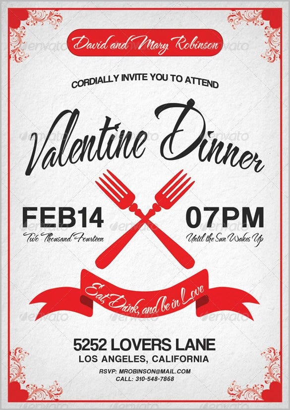valentine dinner invitation for adults