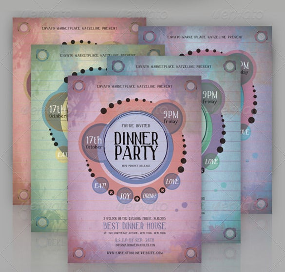 simple and elegant retro dinner party invitation1