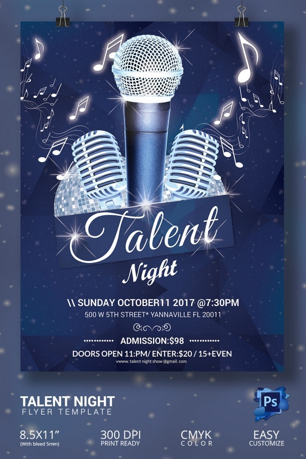 free talent show flyer template koni polycode co