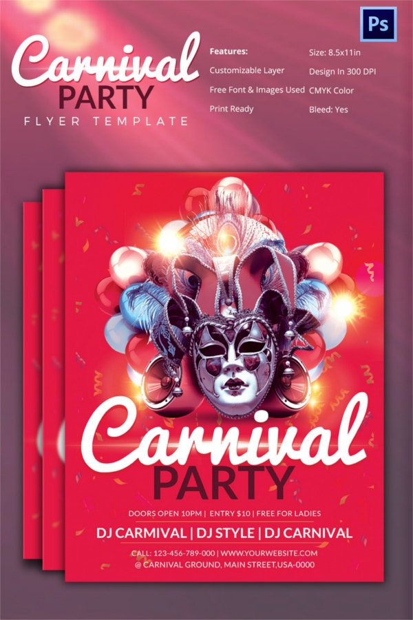 Carnival Party Flyer Template